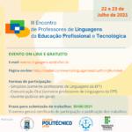 III Encontro de Professores de Linguagens da Educação Profissional e Tecnológica