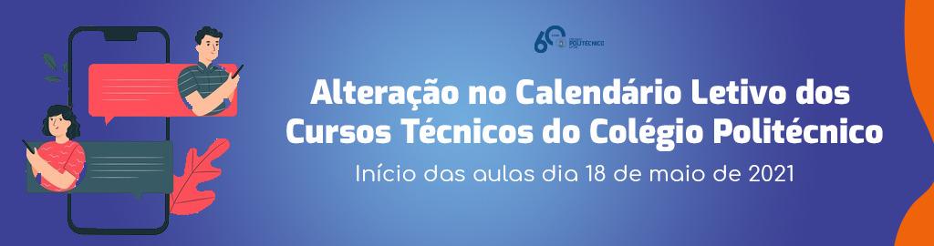 Alteração do Calendário Letivo dos Cursos Técnicos
