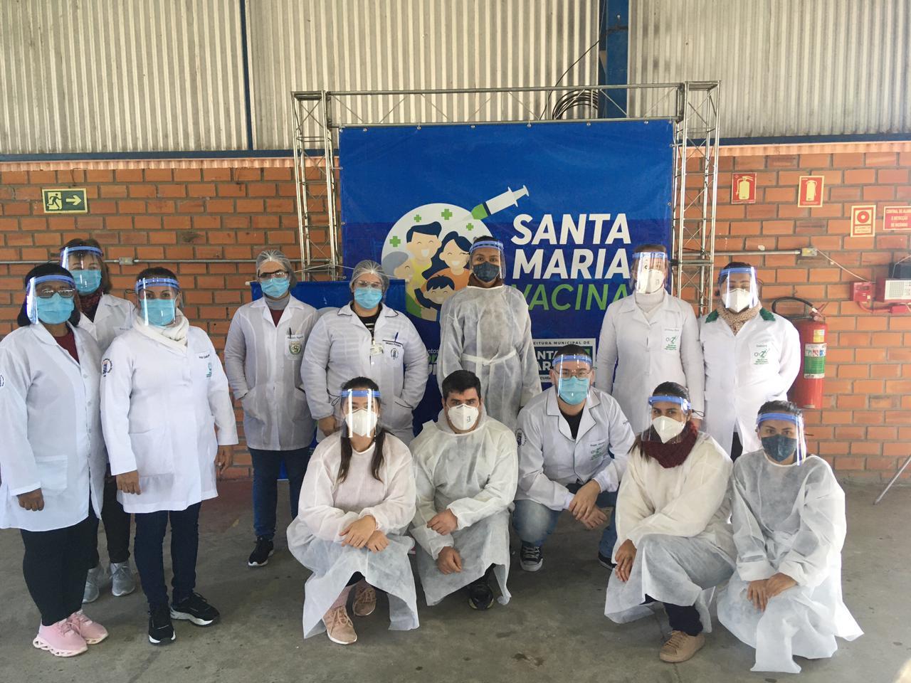 Equipe Politécnico preparada para ações de vacinação (Arquivo pessoal Guilherme Weiss Pinheiro)