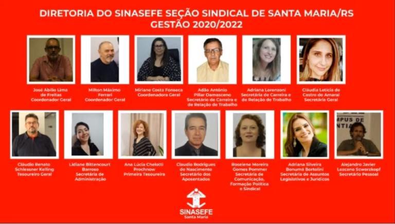 Diretoria do Sinasefe Santa Maria - Gestão 2021/2022