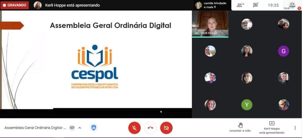 Assembleia da CESPOL via Google Meet