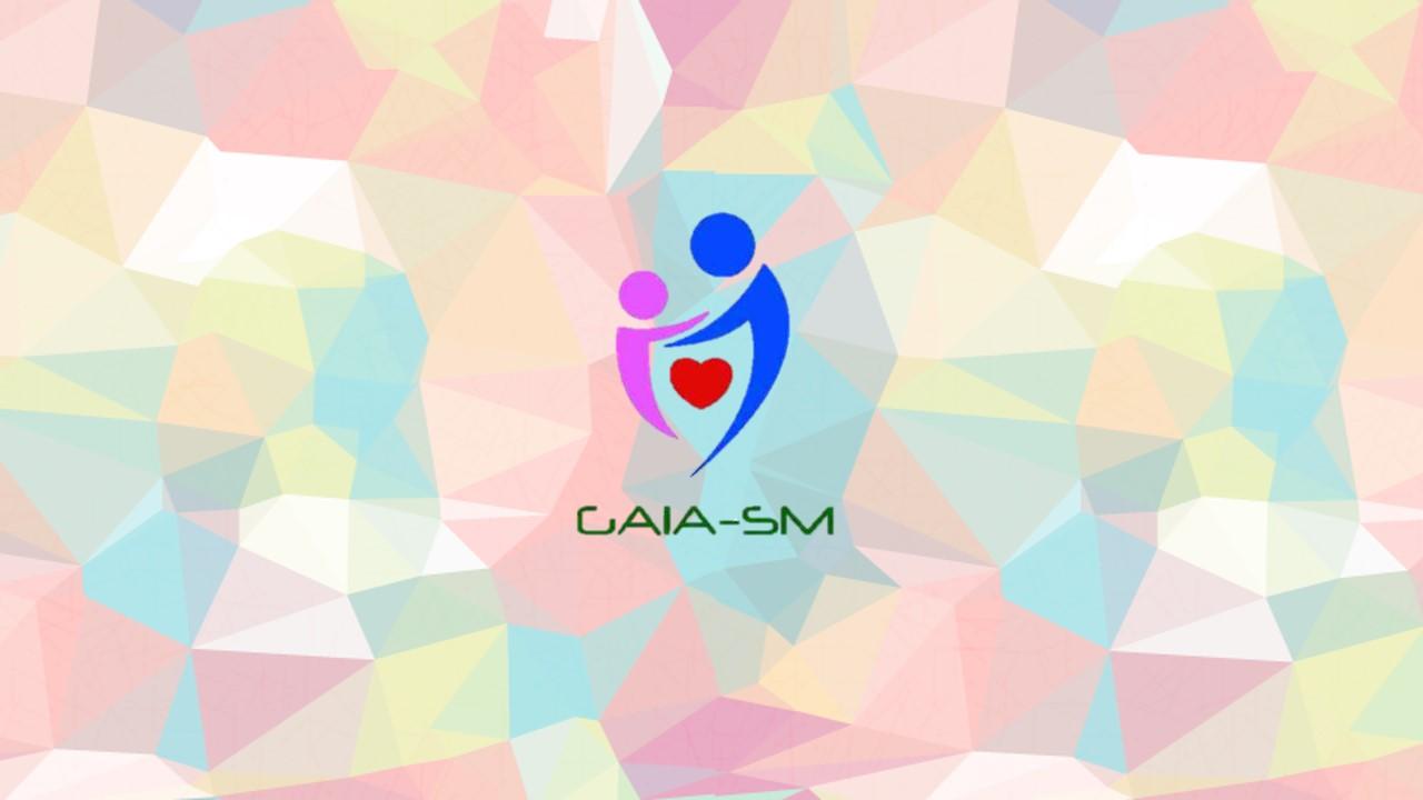 Audiodescrição: Logotipo do GAIA fim da audiodescrição