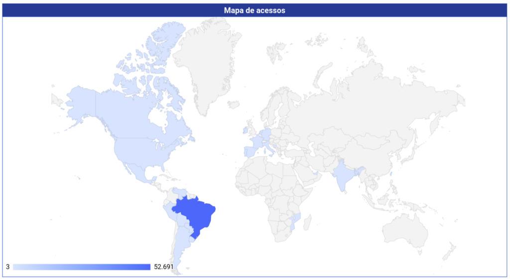 Geolocalização das visualizações de página
