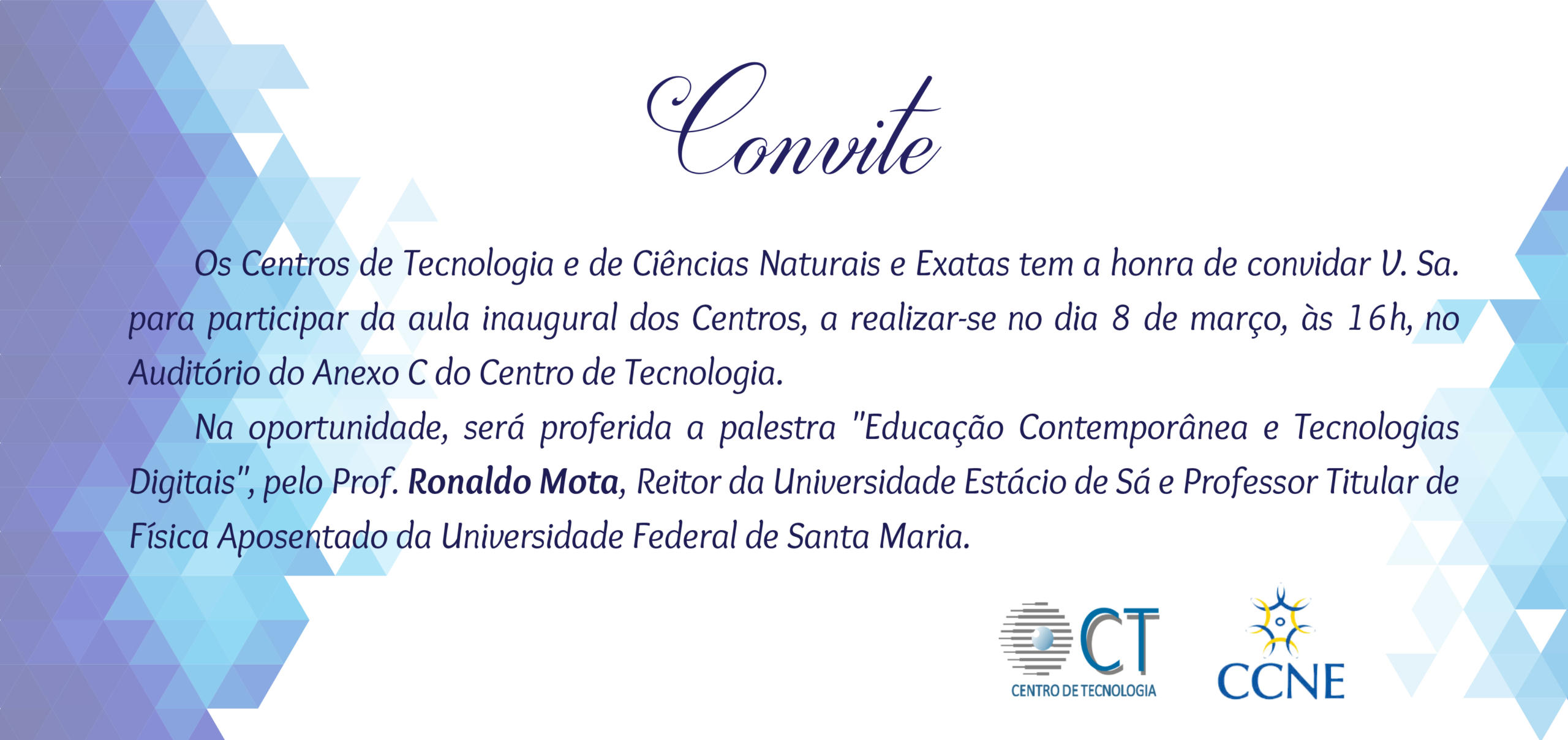 Convite web aula inaugural CT CCNE