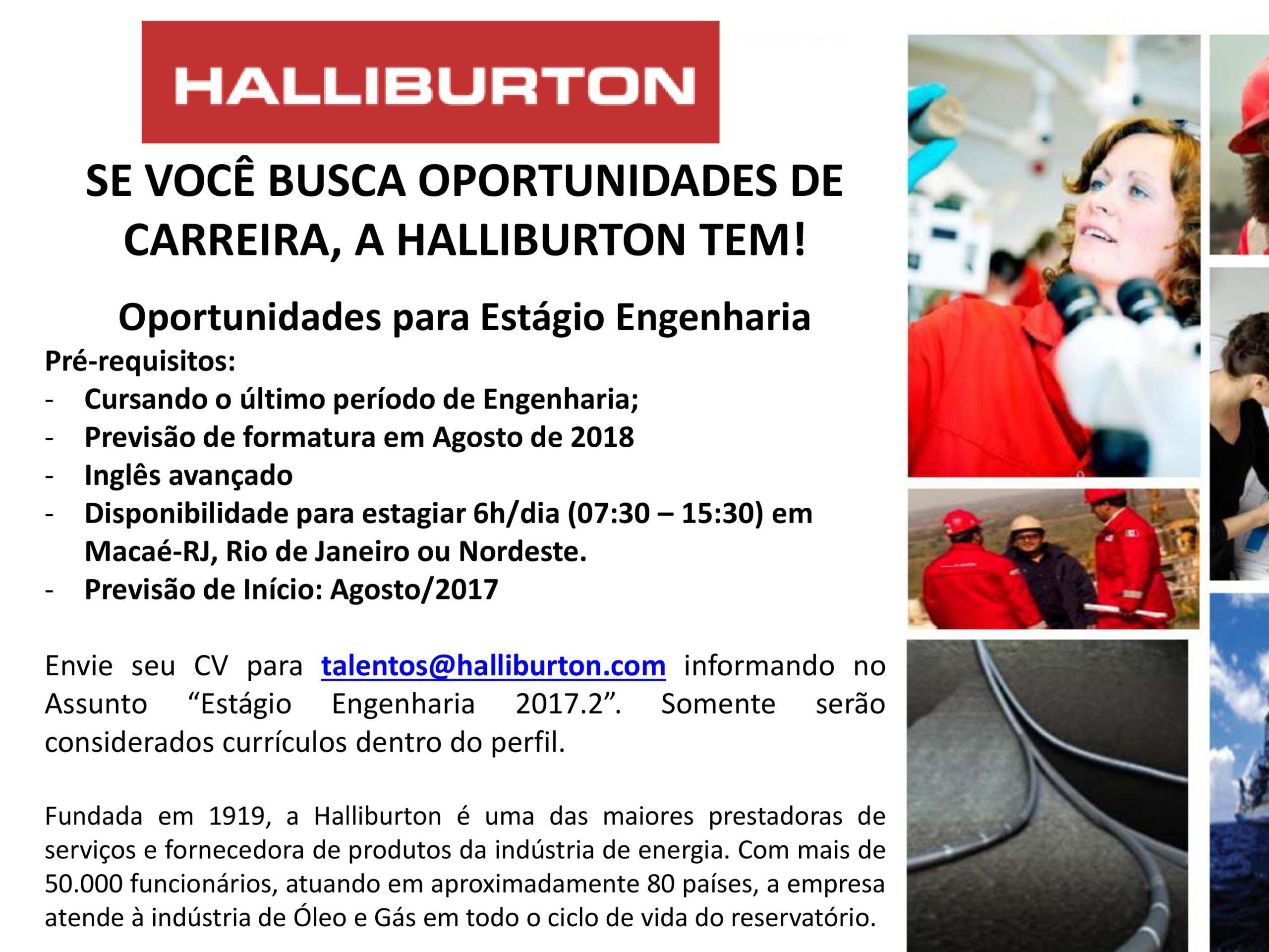 ESTAGIO HALLIBURTON