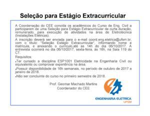 ESTAGIO EXTRA CURRICULAR