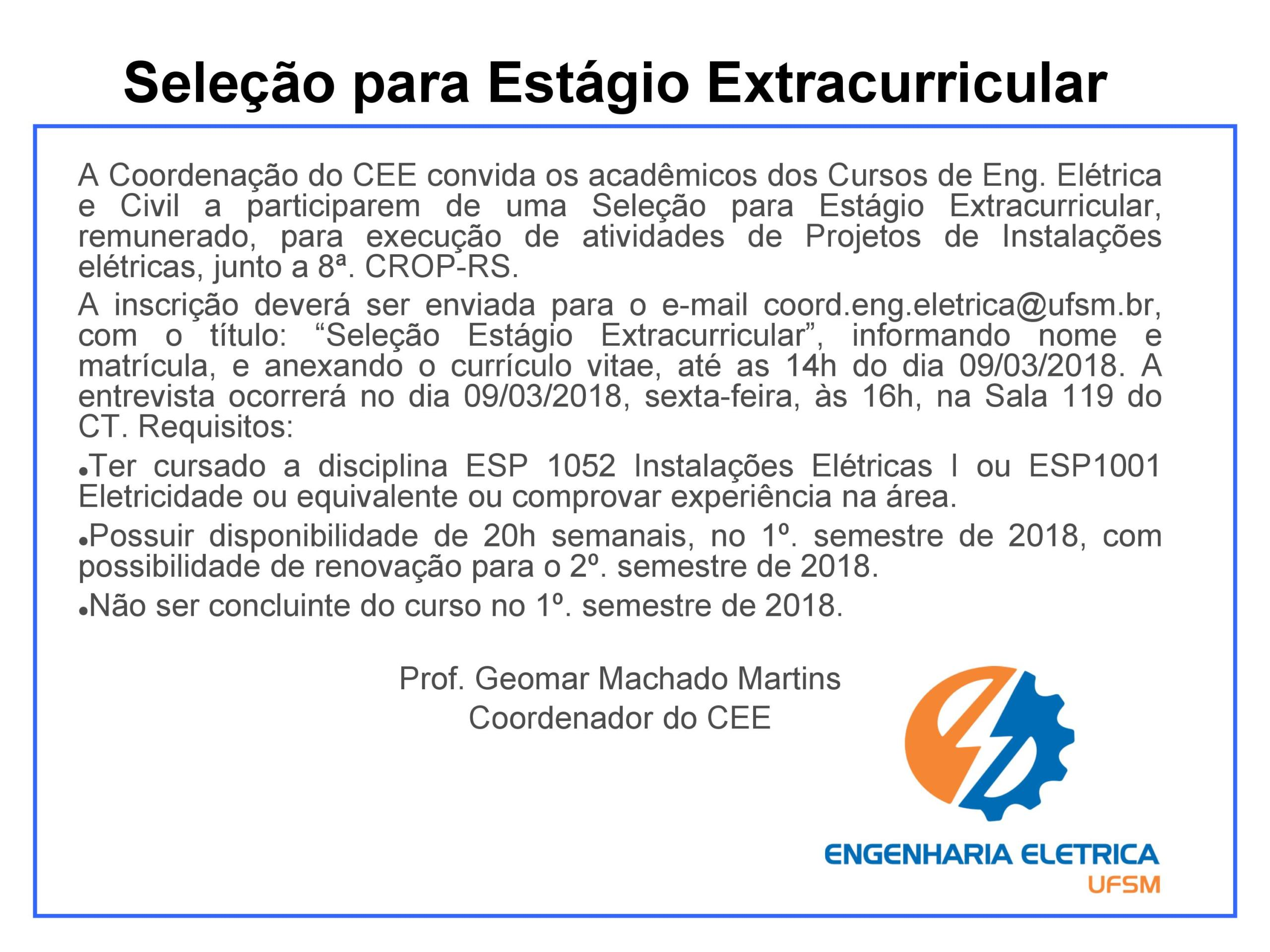 ESTAGIO EXTRACURRICULAR CEE