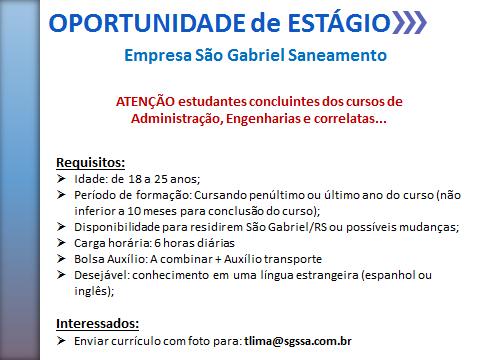 ESTAGIO SAO GABRIEL