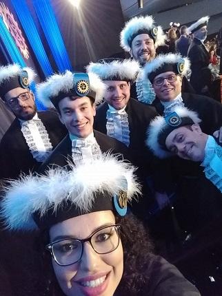 Formandos e Homenageados. formatura solene 2019/1