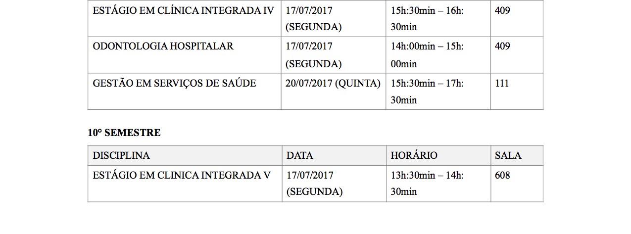HORARIO DE EXAMES OFICIAL 2017 1semestre3