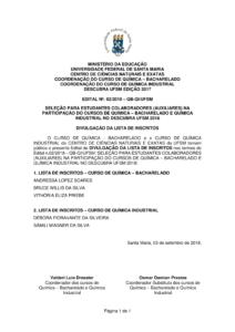 Edital 02 2018 Seleção de bolsistas Descubra Divulgação da lista de inscritos 1