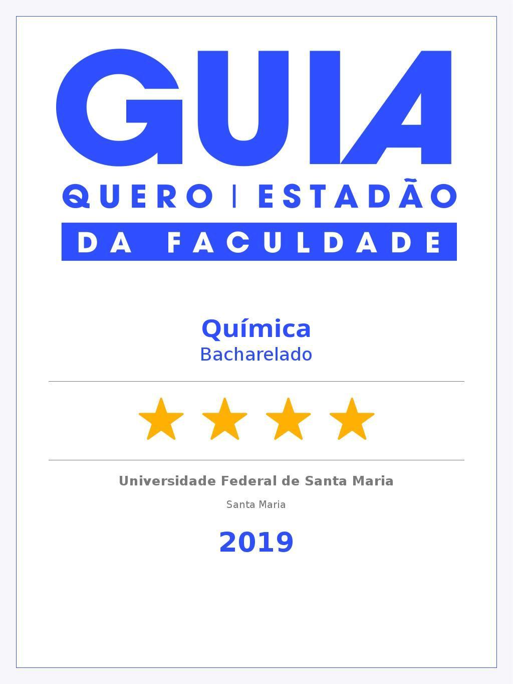 Guia da Faculdade 2019 - Química Bacharelado