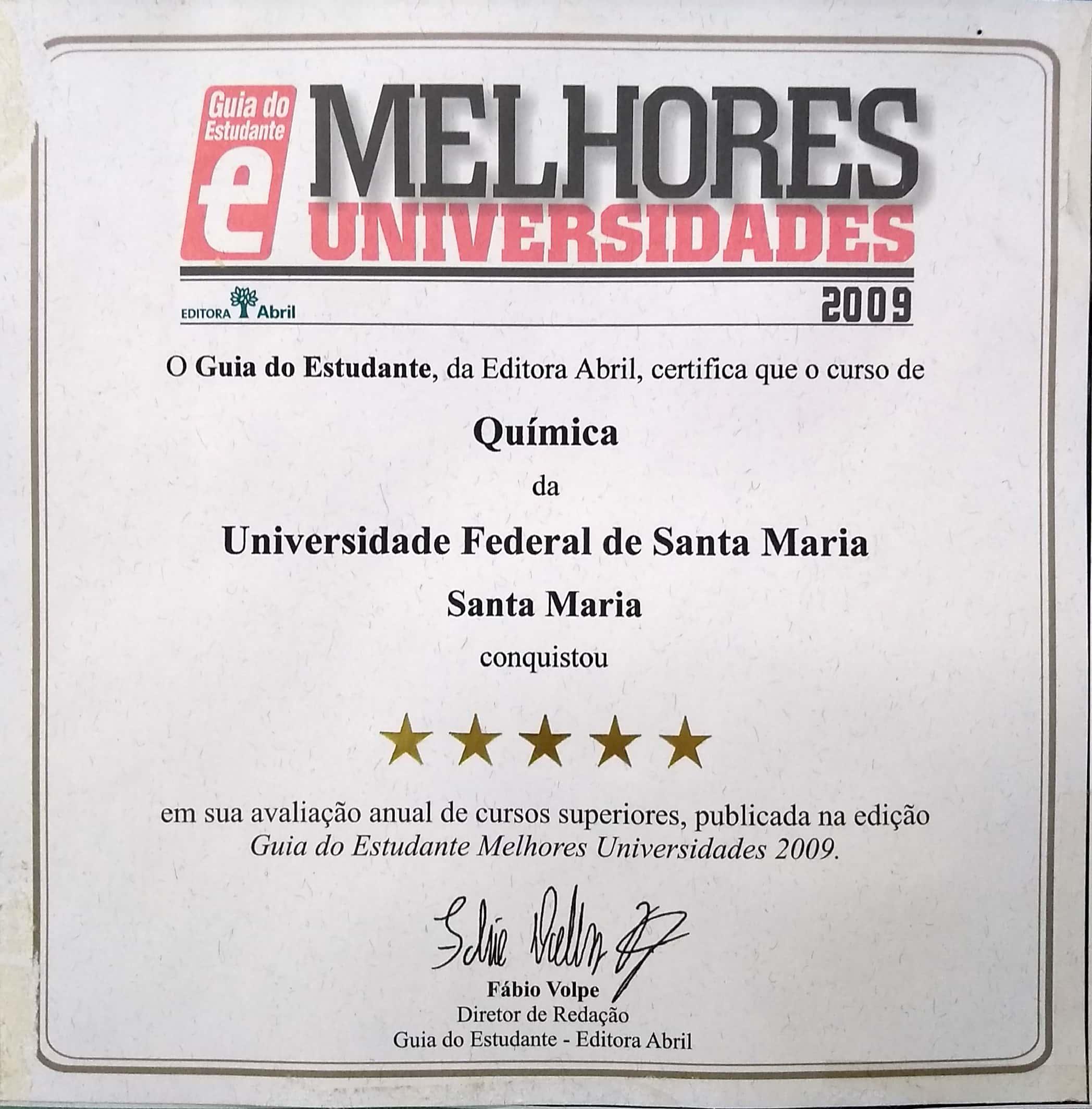 Selo Guia do Estudante - 2009
