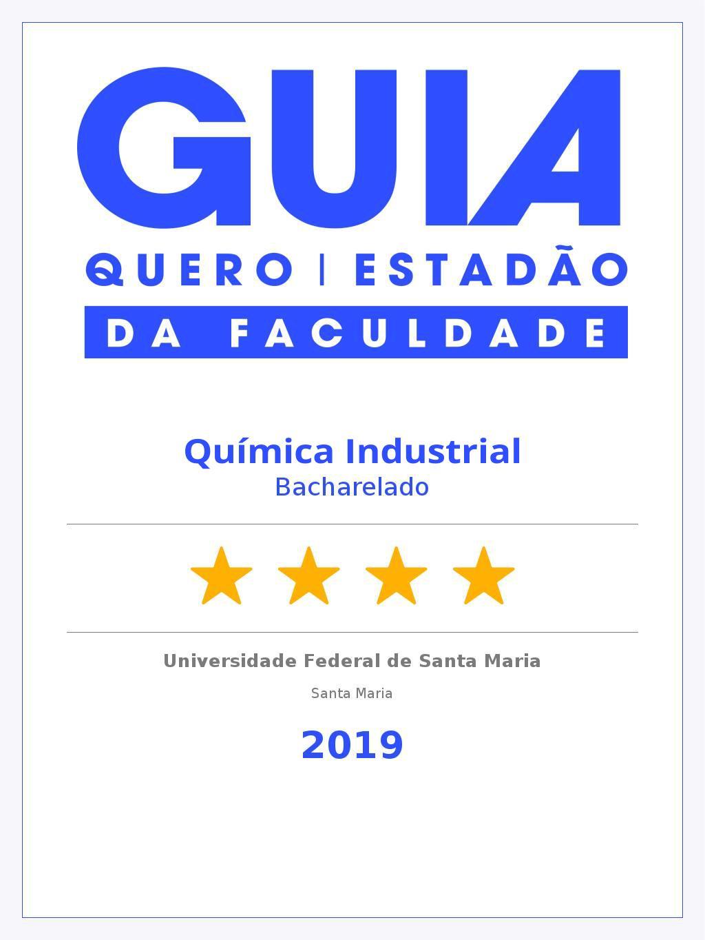 Guia da Faculdade 2019 - Química Industrial