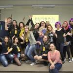 Foto com equipe de organização do evento