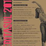 Cartaz com programação do evento
