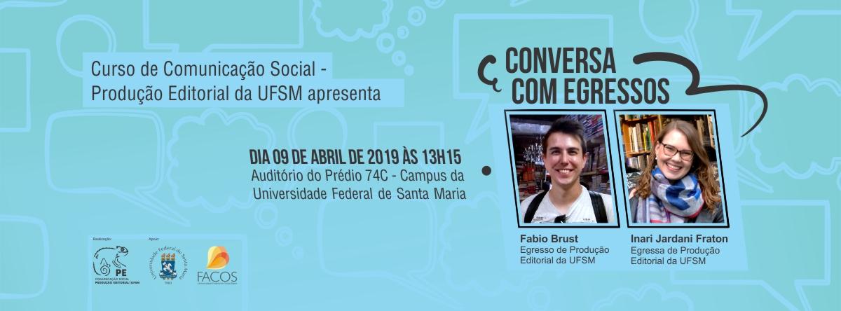 Curso de Comunicação Social - Produção Editorial apresenta conversa com egressos