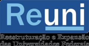 Imagem do logo do REUNI (Reestruturação e Expansão das Universidades Federais)
