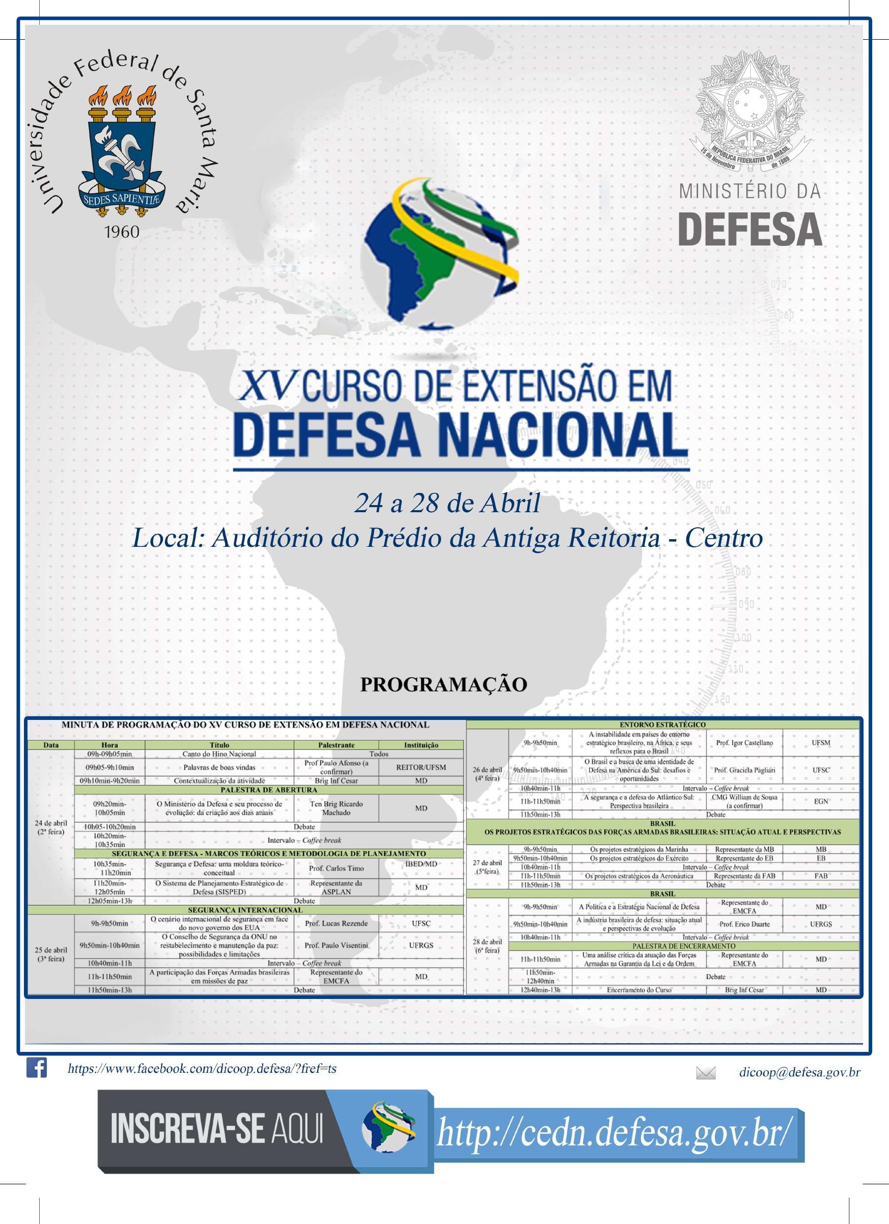 GECAP Cartaz Curso de Extensao em Defesa Nacional