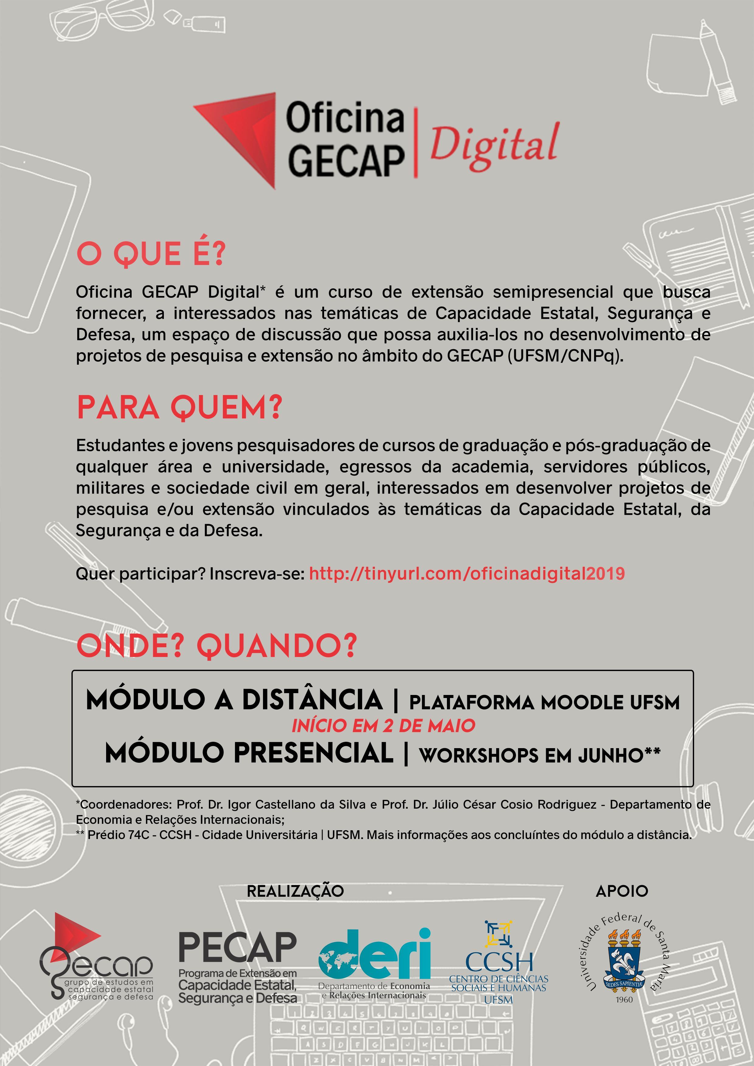 GECAP 2019 Oficina GECAP Cartaz Modelo