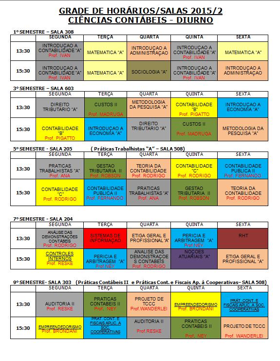 HORARIO DIURNO 2015-2