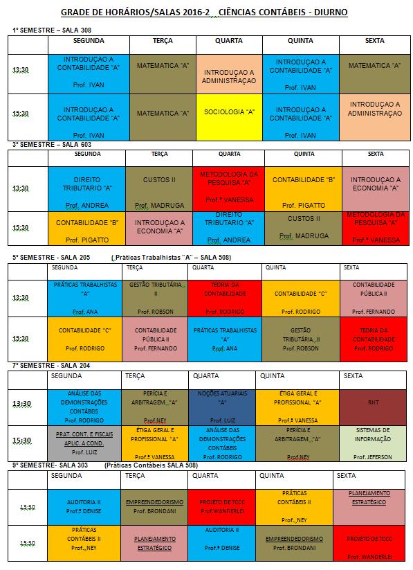 horario 2016-2 DIURNO