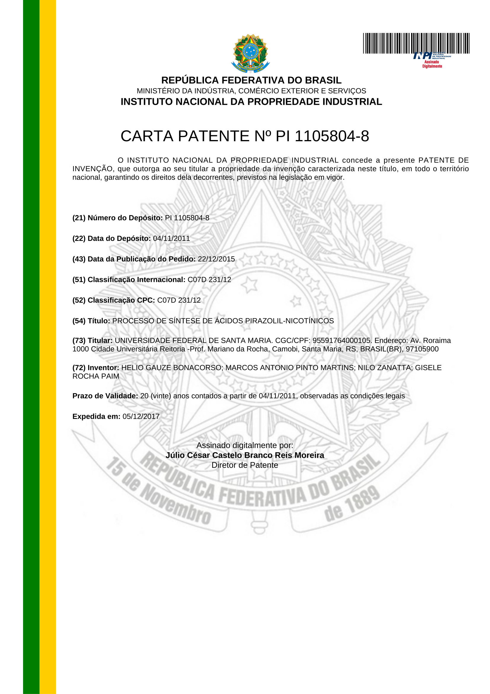 CARTA PATENTE 2 01