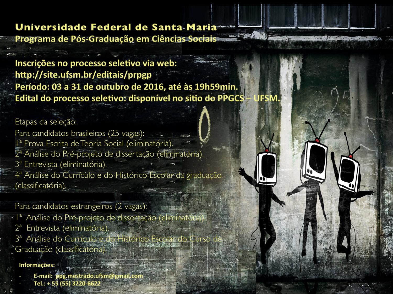 Cartaz 2016 - Difugao edital seleo Mestrado 2016-2