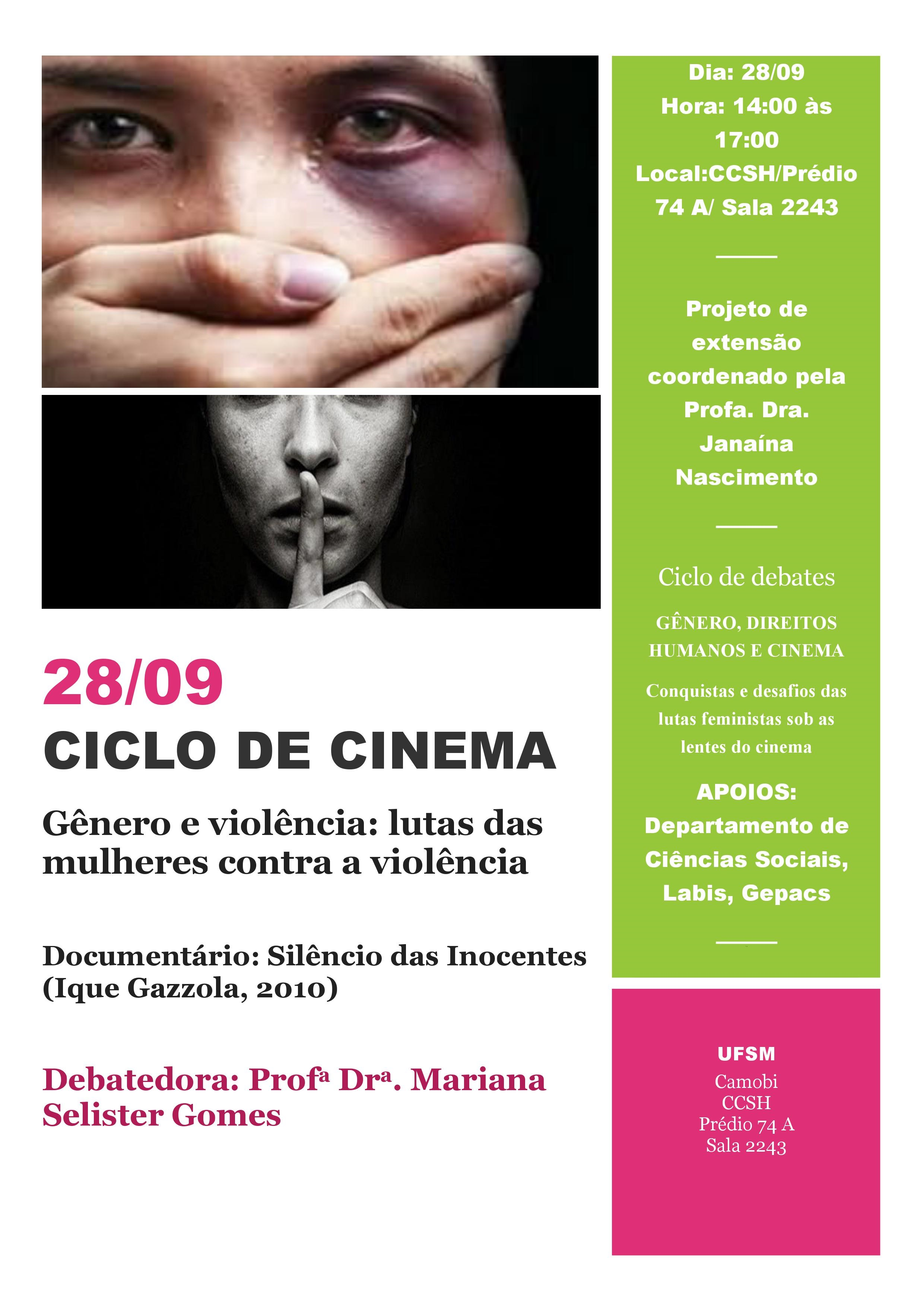 Cartaz Mariana 28 set ciclo cinema