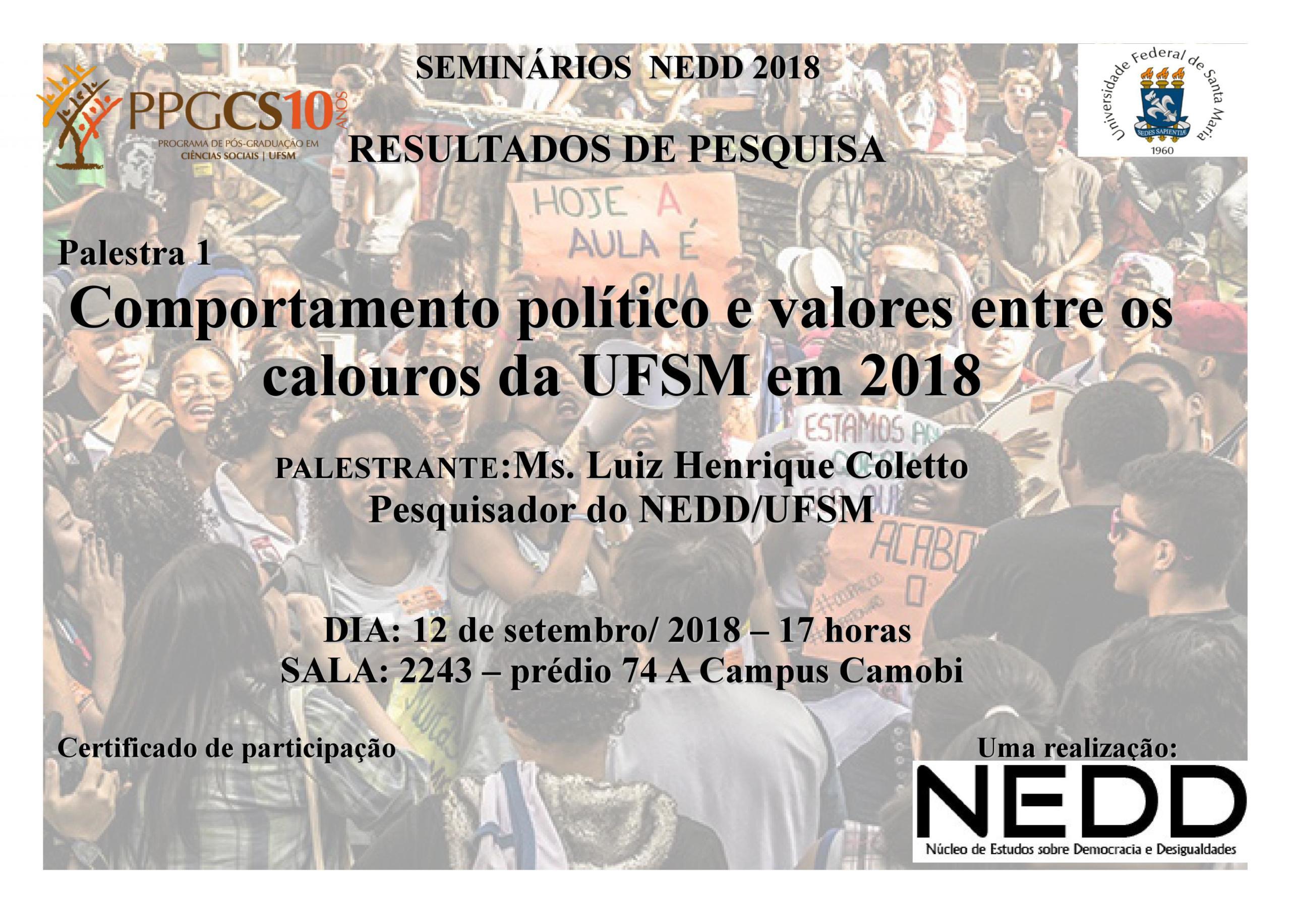 Seminarios NEDD 12 set 2018