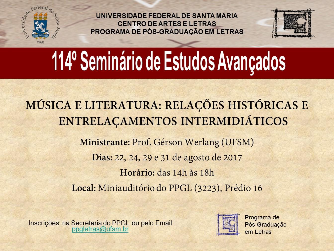 114º Seminário de Estudos Avançados