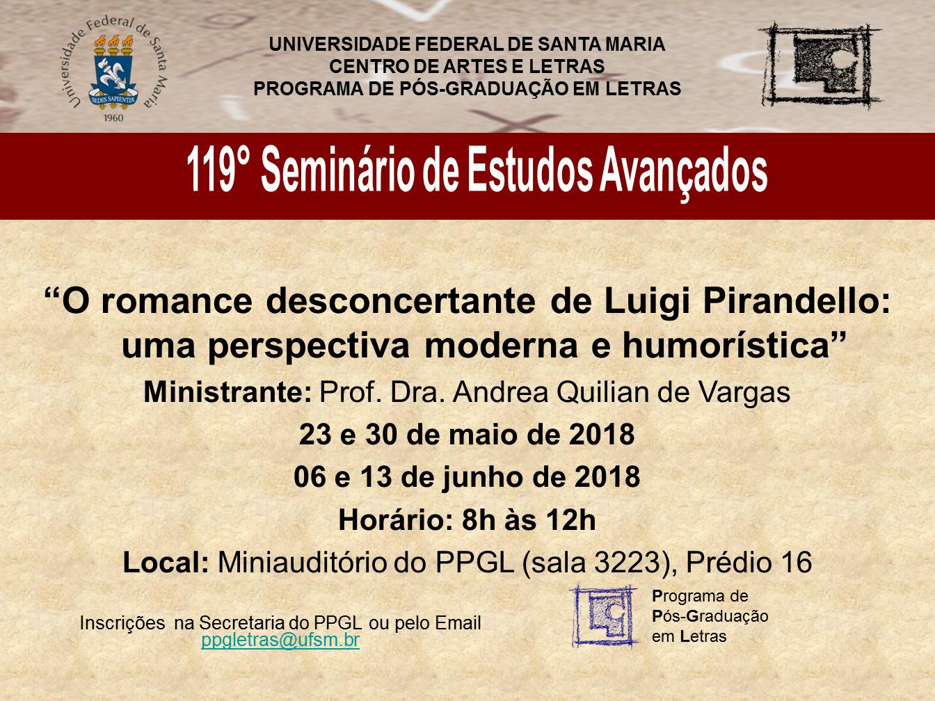 119 seminário de estudos avançados