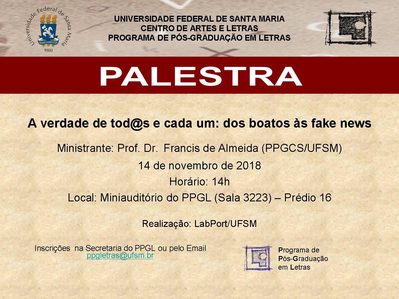 Palestra Prof. Francis de Almeida