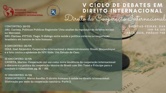 V Ciclo de Debates em Direito Internacional