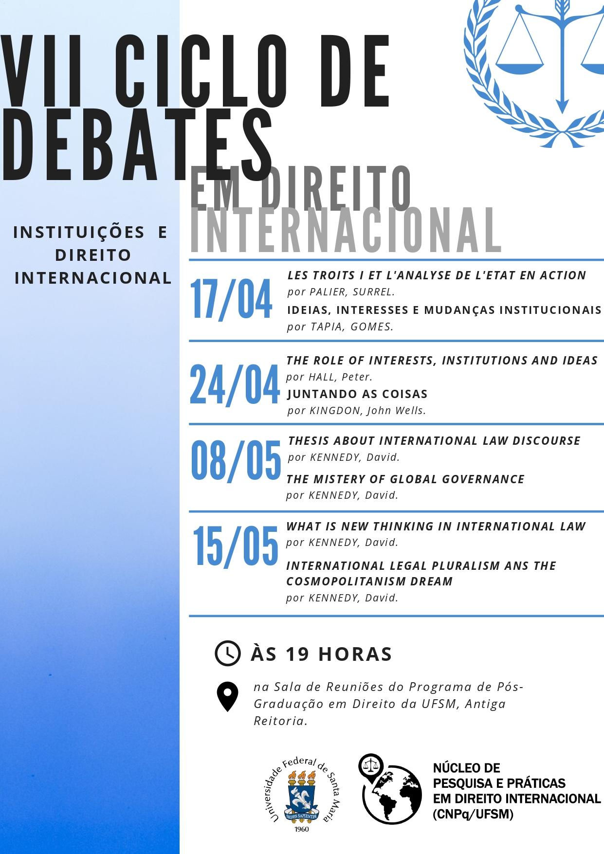 ciclo de debates em direito internacional page 0001
