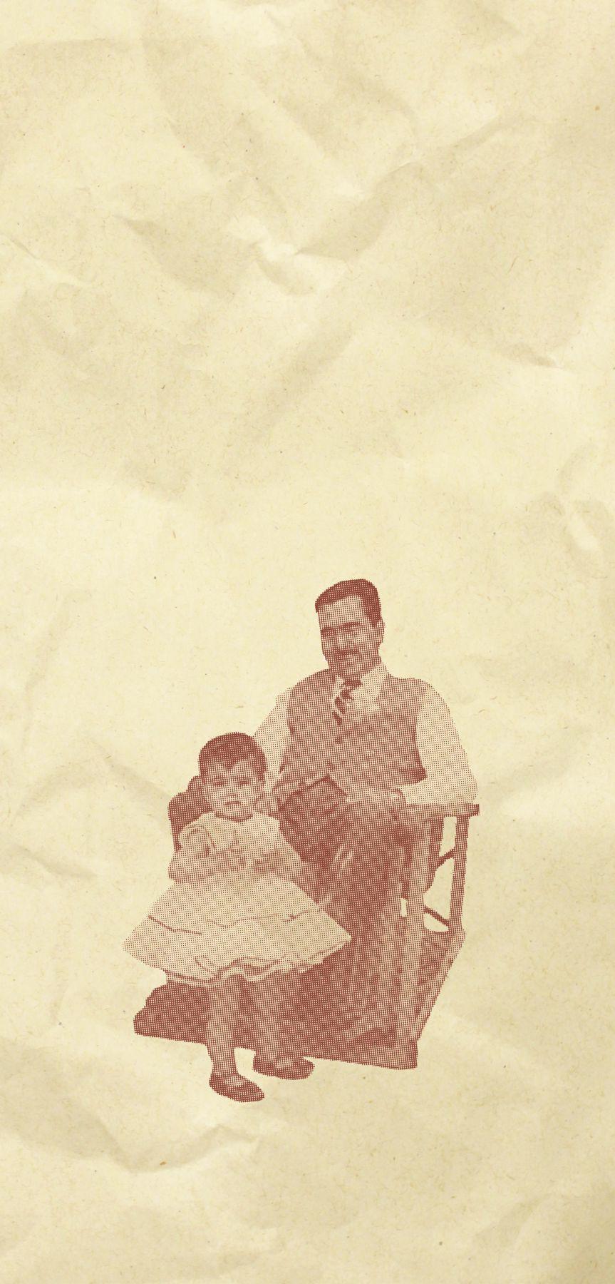 Professora Eugênia, ainda bebê, ao lado do pai e fundador da UFSM. Foto: arquivo pessoal Eugênia Barichello