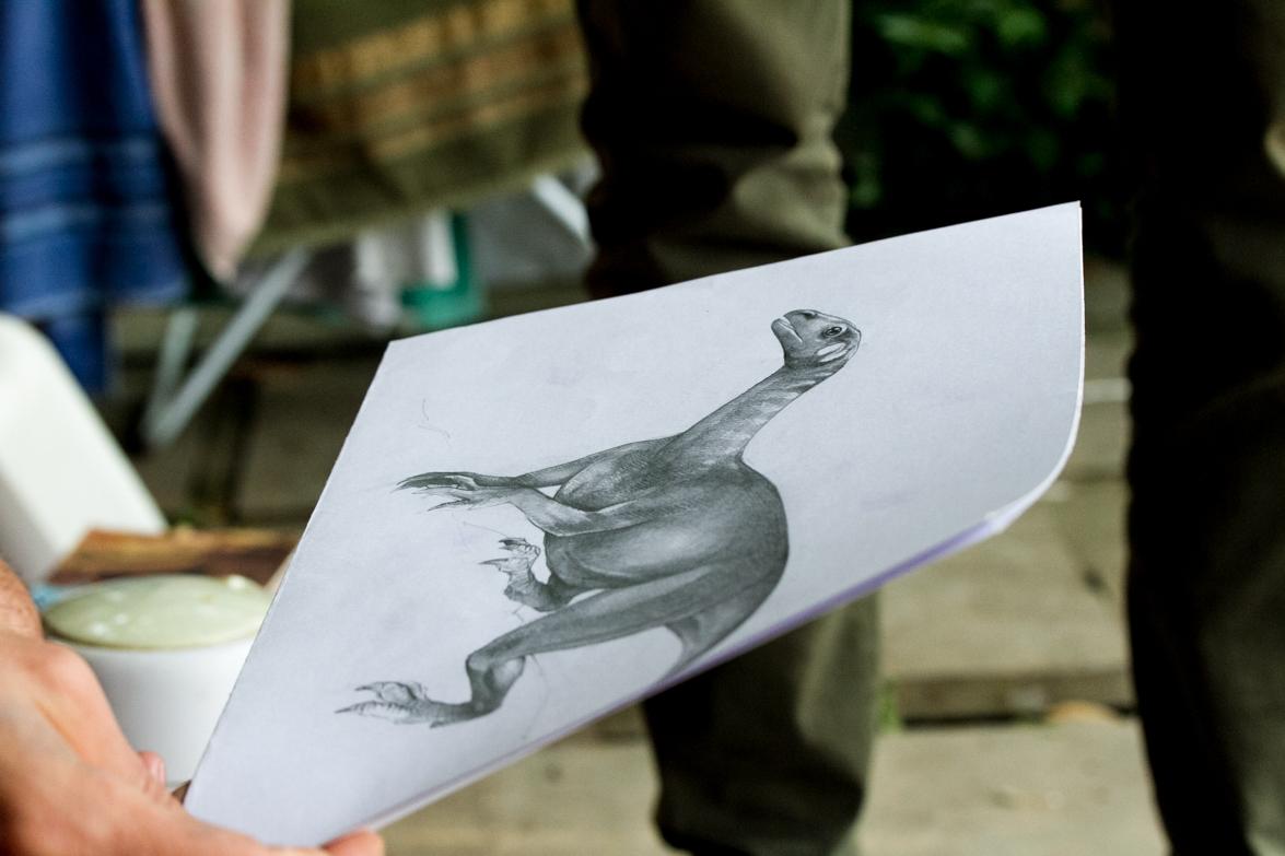 O paleoartista se inspira em animais atuais para retratar os ancestrais