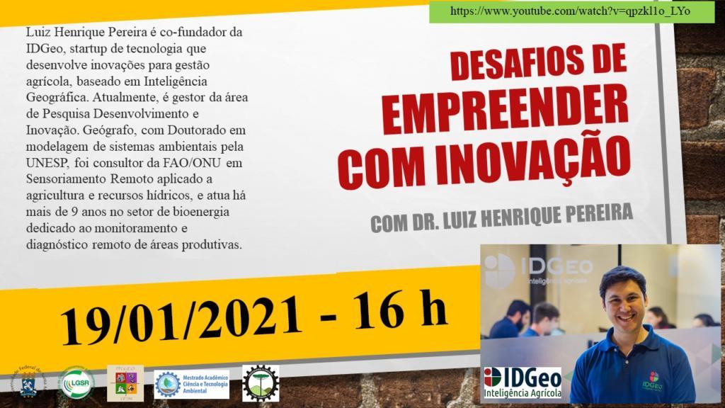 Palestra com Dr. Luiz H Pereira