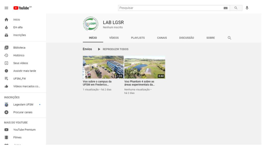 Canal do Youtube - LGSR