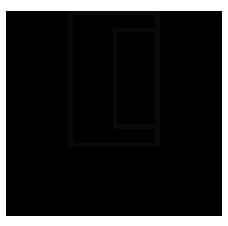"""Imagem da logomarca de uma empresa de nome Mobart. Centralizado, um retângulo com linhas pretas, vazado. Dentro desse retângulo, um retângulo menor, alinhado na aresta direita, centralizado. Logo abaixo, a palavra """"Mobart'', em caixa alta, na cor preta."""