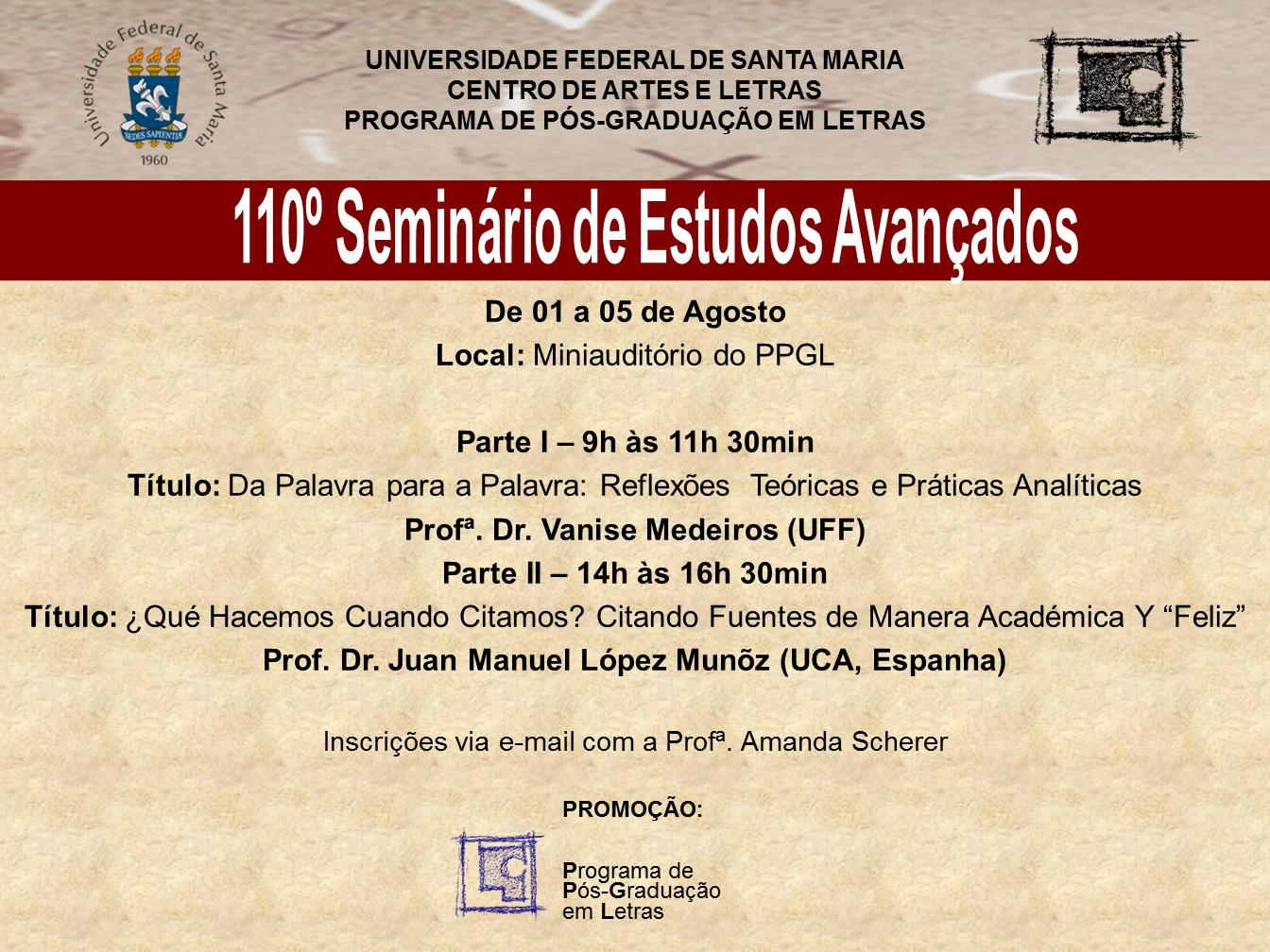 110 seminário avançado