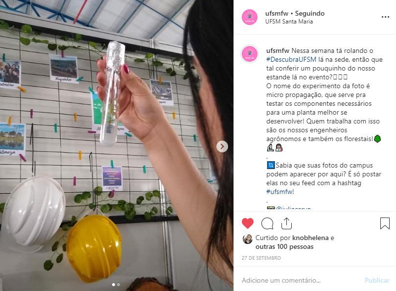 Exemplo de conteúdo informativo pro Instagram