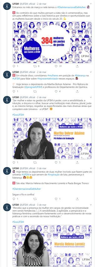 Exemplo de thread no Twitter