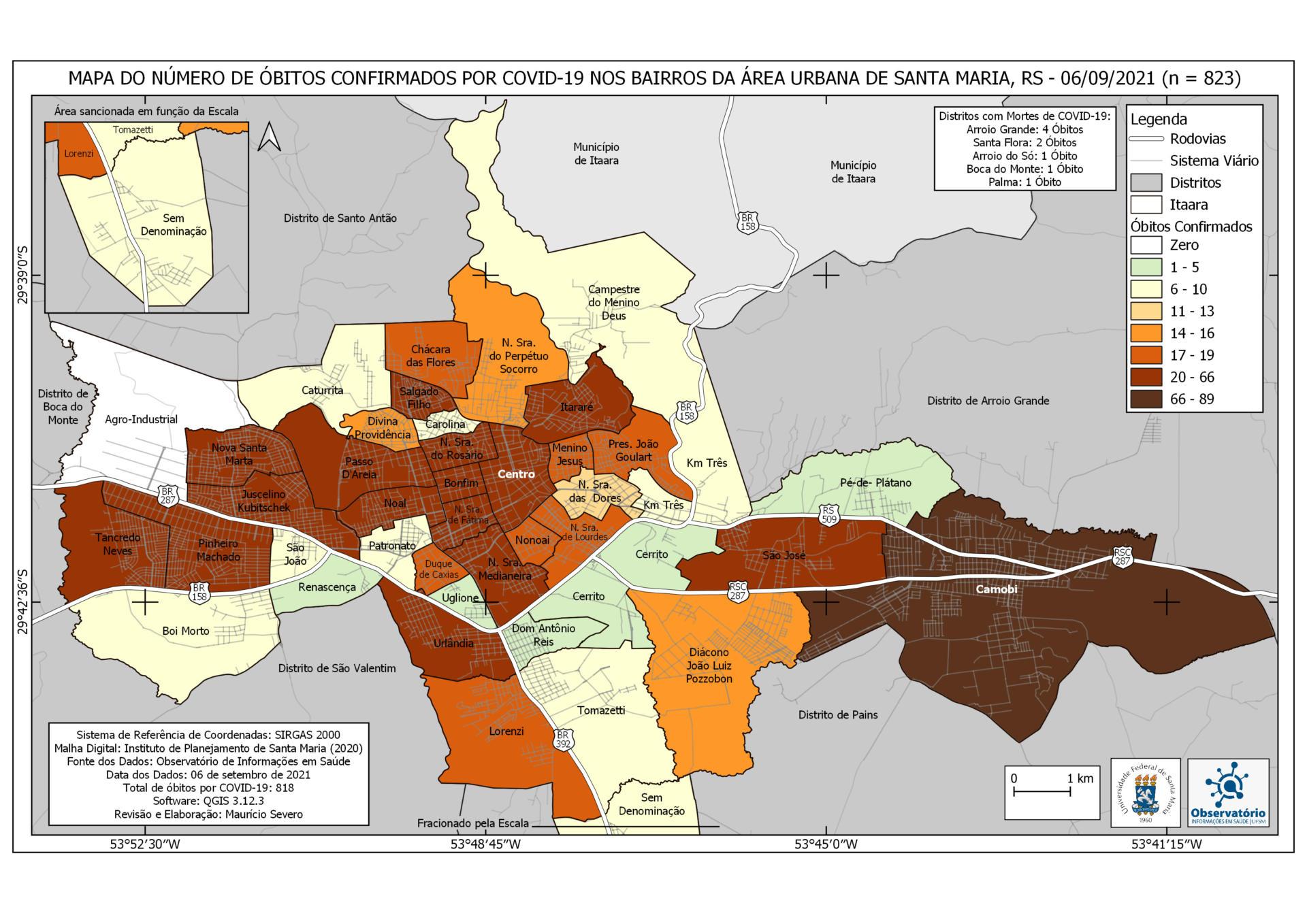 Mapa de Óbitos - 06-09