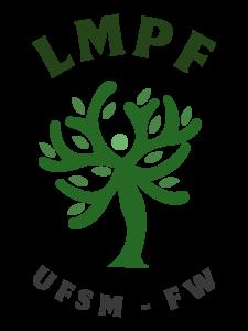 Imagem colorida em verde e cinza de uma árvore. Na parte superior lê-se LMPF e na parte inferior lê-se UFSM-FW.